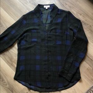 Express blue and green plaid Portofino shirt